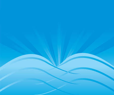 Abstract Blue Background, different transitions blue