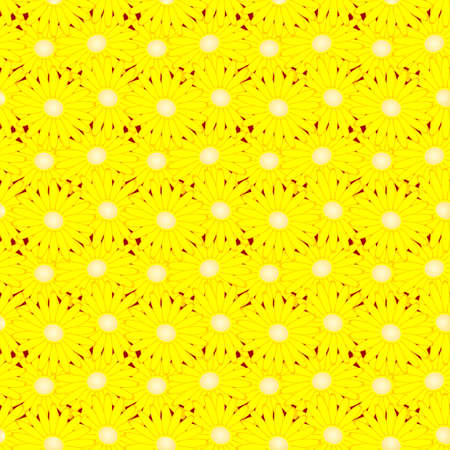 Abstract seamless background, daisies randomly distributed
