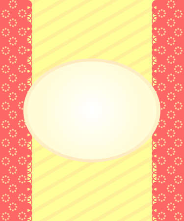 simple retro background with frame Illustration