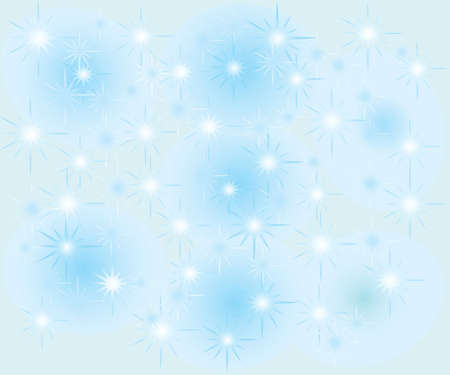 Seamless snowflakes background with stars Vector