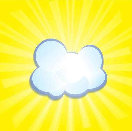 horizon over water: Cloud in the sky in the rays of the sun   Illustration