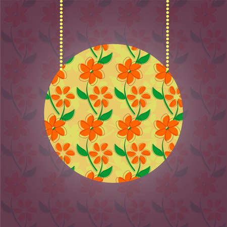 floral pattern on the lumen, retro style