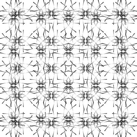 pattern - geometric  black and white modern texture  Vector