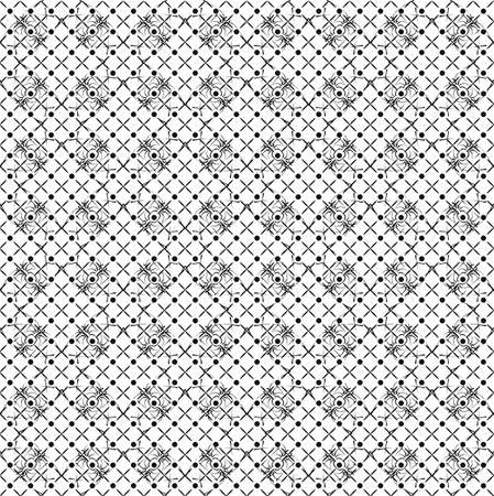 black and white wallpaper pattern in retro style