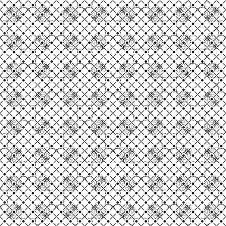 Motif De Papier Peint Noir Et Blanc Dans Le Style Retro Clip Art