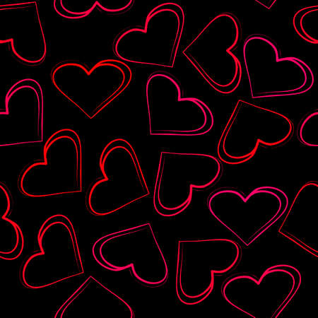 Seamless wallpaper of hearts for love  Illustration
