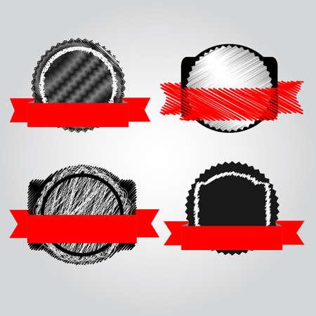Satisfaction Guarantee Label Ilustração