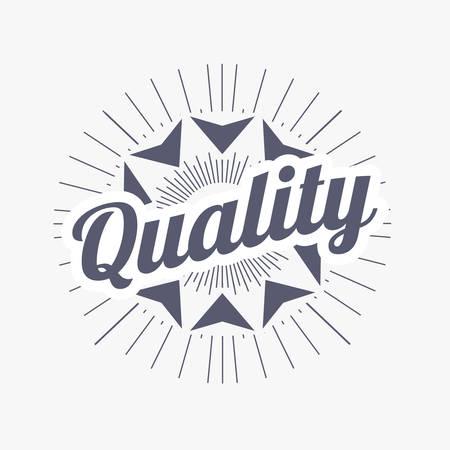 Insigne design rétro. fond de vente de label de qualité. Éléments vintage de vecteur.