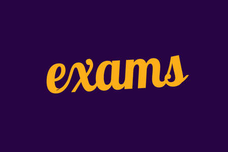 Exams showing hand writing