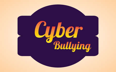 Writing text Cyber Bullying