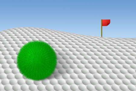Alternative golf Stock Photo