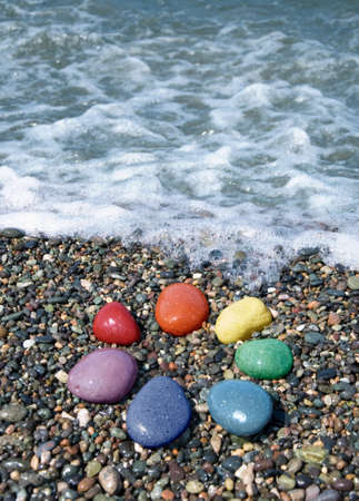 Pebble rainbow Stock Photo