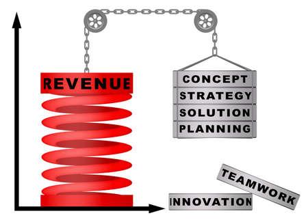 Company revenue growth concept
