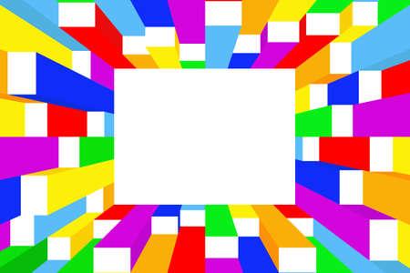 Vector colorful frame Illustration