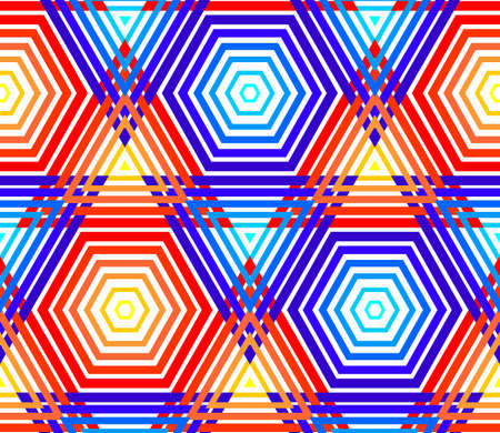 seamless vector pattern with triangles and hexagons