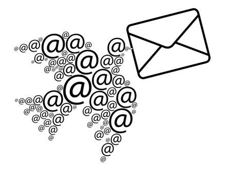 Email message Stock Vector - 14237691