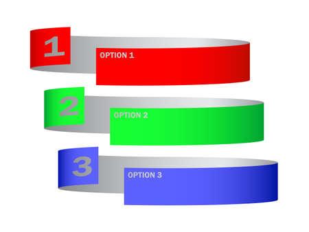 Three options Stock Vector - 14385085