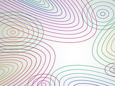 Abstract background with colorful curves Stock Vector - 14748065