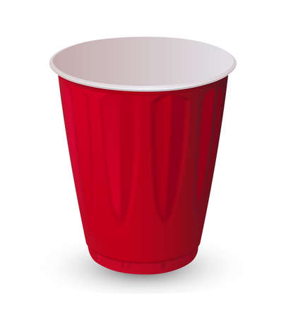 objects: Red plastic cup Illustration