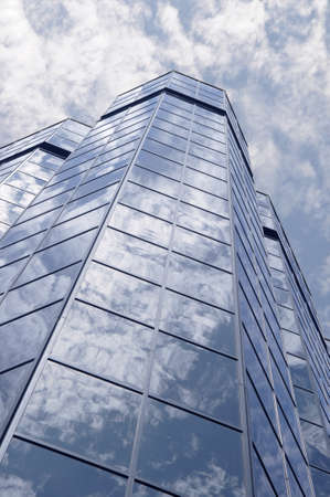 Glass and sky Stock Photo