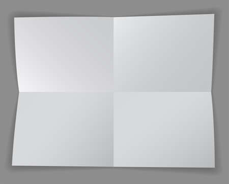 Blank paper divided into four sections