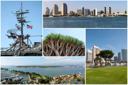 San Diego landmarks collage - USA