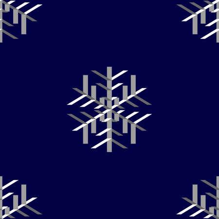 Seamless wallpaper with white snowflakes