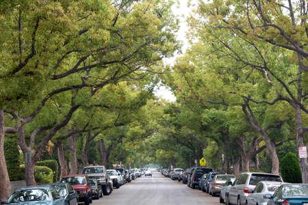 Street Parking Stock Photo