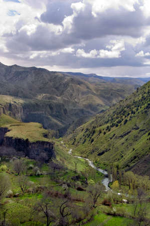 Rocks and River - Garni Gorge, Armenia Stock Photo