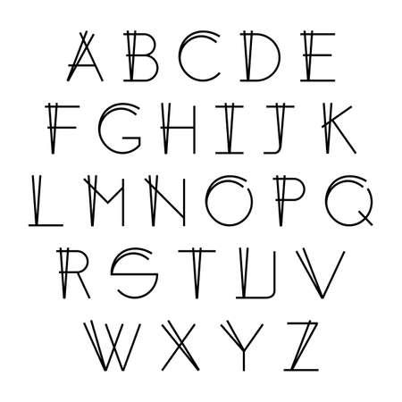 Modern Thin Line Font, Vector Alphabet Elegant Design