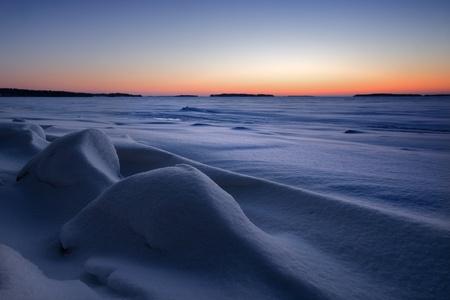 Snowy seascape Stock Photo