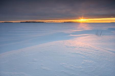 Cloudy sunrise Standard-Bild