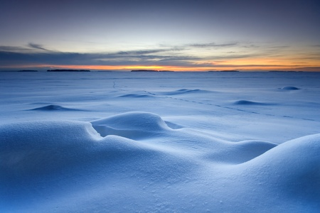 Snowy seascape photo