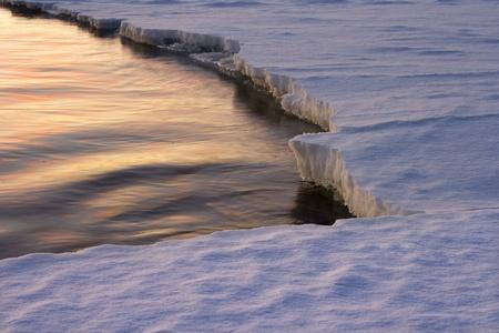 Rande des Eises Standard-Bild - 8898906