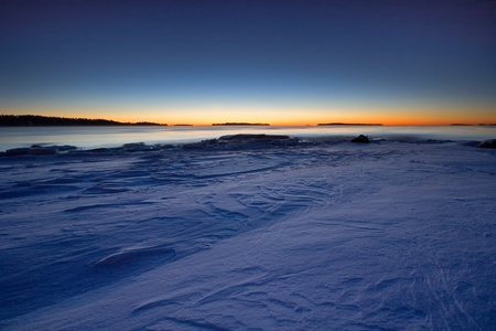 Sunrise in cold morning photo