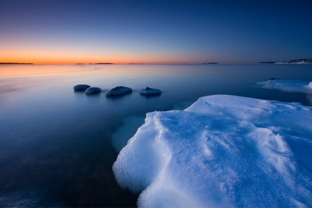 Ice and cold water photo