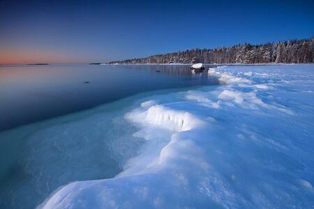 winter finland: Icy coast of Helsnki