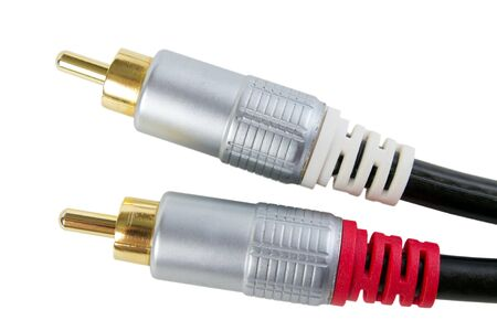 Gold plated RCA stereo audio connectors photo