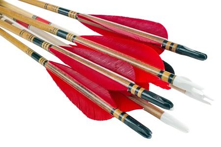 bow and arrow: Homemade cedar wood archery arrows