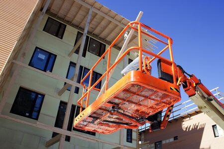 Plattform für mobile Arbeitsprozesse in Baustelle Standard-Bild - 13070482