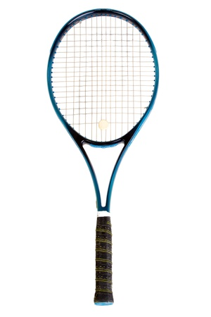 Tennis racket, isolated on white background Stock Photo
