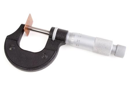 micrometer: Micrometer dial indicator and copper plate