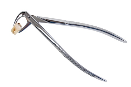 Dental Extraktionszangen und Zahn Standard-Bild - 13696449