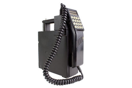 Old mobile cellular phone, isolated on white Standard-Bild
