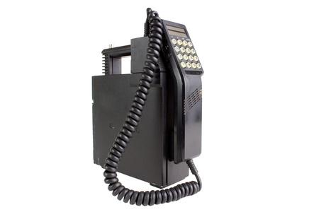 Alt Mobilfunktelefon, isoliert auf weiß Lizenzfreie Bilder