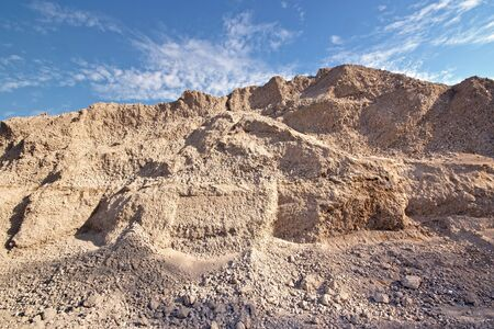 sand quarry: Industrial sand and gravel quarry
