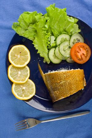 whitefish: Smoked whitefish on the dish