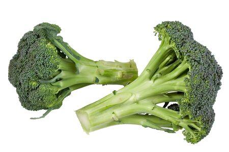 broccolli: Two green fresh broccoli bundles, isolated