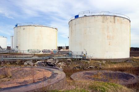 storage tank: Abandoned old oil tanks in Laajasalo, Finland