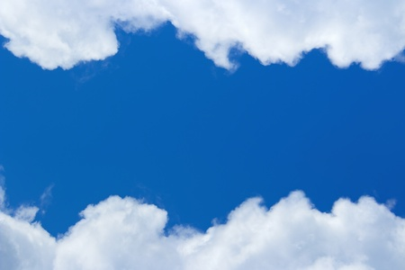 cumulus cloud:  *** Local Caption *** White clouds in blue sky, nature frames and backgrounds Stock Photo
